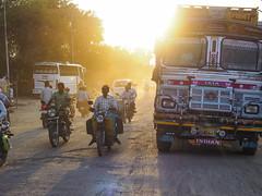glare (davidnofish) Tags: events indiaholiday ranthambore motor bike cycle truck decorated glare dust traffic olympus em1 m1240mm