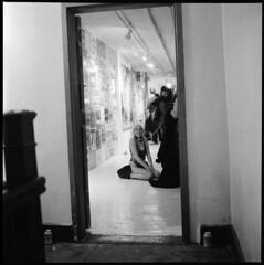 lexi & contessa (Ren Sterling) Tags: lexi laphor contessa stuto election day show cash4 smells bowery manhattan nyc new york city art rolleiflex ilford delta 3200
