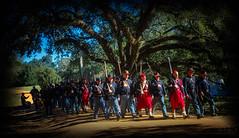 Zouaves on the March (Dick Shaffer) Tags: civilwar reenactment liendoplantation texas march zouave nikcolorefex4 lightroom2017 photoshopcc2017 history soldiers rifles guns