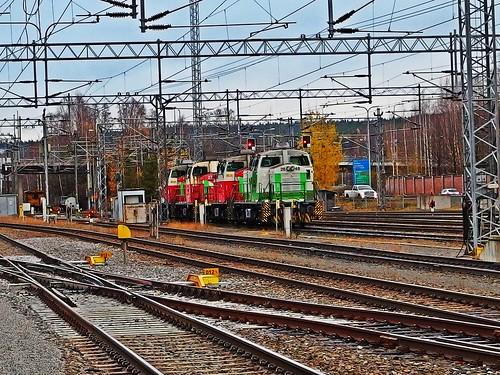 railway station in Jyväskylä...