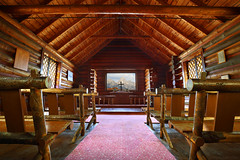 The Chapel of the Transfiguration, Grand Teton National Park (Bryan Carnathan) Tags: thechapelofthetransfiguration chapel church littlechurch smallchurch oldchurch sanctuary cross pews window usa wyoming grandtetonnationalpark gtnp nationalpark view log wood wooden mountains mountainpeak peak architecture interior peaceful beautiful hdr bryancarnathan canon canonusa eos 5dsr canoneos5dsr canonef1635mmf4lisusmlens 16mm gitzo arcaswiss ultrawideangle wideangle
