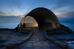 Behind the scenes (nlar3046) Tags: bondi ocean sculptures sculpturesbythesea sunrise tamarama water sculpture pavilion plywood cnc digital fabrication