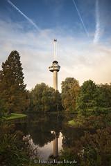 Euromast, Rotterdam. (PvRFotografie) Tags: nederland holland rotterdam parc park hetpark autumn herfst tree trees bomen boom water euromast sonya900 tokina2035mmiif3545