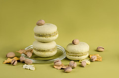 pistachio macaroon on a green background (mouse_adikatz) Tags: pistachio green food sweet dessert macaroon traditional cookie macaroons delicious cake bakery macaron background closeup white colorful diet tasty snack gourmet eating cream sugar candy french color object flavor