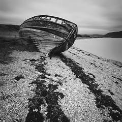 Shipwreck by Ullapool (Mark Rowell) Tags: ullapool highlands scotland hasselblad 903 swc fuji acros bw 6x6 120 mediumformat longexposure film