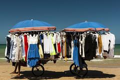 Un p di ombra (Luca Maresca) Tags: mare spiaggia marocchino abiti vestiti vucumpr ombra sole ombrellone sabbia riva riposino riposo carretto relax sanmenaio gargano puglia estate 2016 blu cielo colori