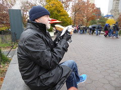 Central Park New York November 2016 (1221) (Richie Wisbey) Tags: new york central park manhattan ulmsted man made vista view spectacular miles walks lakes ice rink trump feeding sparrows hot dog american space open public beauty bow bridge oak trees grass richie richard wisbey flickr explore exploring zoo