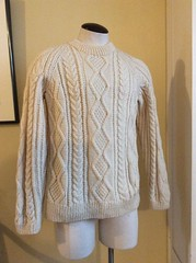 Aran wool sweater (Mytwist) Tags: vintage mens sweater aran cable fisherman pullover crewneck wool scotland northwestvintageoutfitters aranstyle aranjumper aransweater authentic irish retro fetish fashion style sexy sweaters jersey laine design dublin designed handgestrickt handknitted handcraft cabled bulky cozy craft classic cables casual passion textured traditional timeless heritage handknit honeycomb crew webfound mytwist