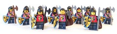 Axes faction (spaghettofil) Tags: lego castle knights faction army decals stickers crosses axes brickforge brick forge
