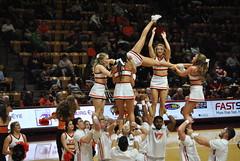 VA. TECH CHEERLEADERS (SneakinDeacon) Tags: acc vt vatech hokies cassellcoliseum cheerleaders bigsouth basketball panthers highpoint