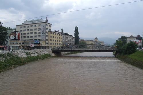 Miljacka River and Ajfelov Bridge, 27.05.2012.