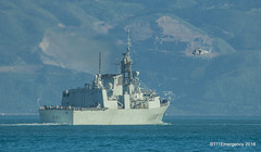 RNZN Seasprite over HMCS Vancouver (111 Emergency) Tags: wellington navy new zealand rnzn seasprite over hmcs vancouver harbour nz