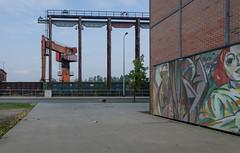 Crane and steel work (AstridWestvang) Tags: brandenburganderhavel crane germany museum