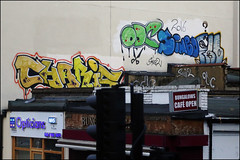 Charis / ODC / Sinbo (Alex Ellison) Tags: charis odc sinbo eastlondon urban graffiti graff boobs rooftop