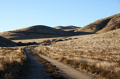 """""""Morning brings another sun..."""" (nedlugr) Tags: california ca carrizoplain carrizoplainnationalmonument hills shadows dry drought usa dirtroad"""