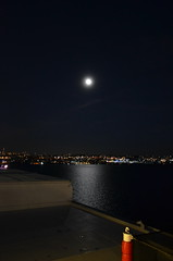 DSC_5012 (Vintage Alexandra) Tags: queen mary 2 ship ocean liner cunard qm2 travel nighttime photography moon
