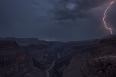 Striking (Maddog Murph) Tags: landscape torroweap off road storm lightning monsoon thunderstorm thunder cloudy canyon grand colorado river desert high arizona travel adventure photography