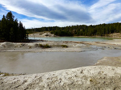 Volcanic lakes (plethora4834) Tags: yellowstonenationalpark yellowstone wyoming wy nature volcanic volcano lake lakes pool pools