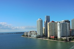 USA (Florida)  Waterfront of Miami downtown (ustung) Tags: us america florida miami waterfront outdoor skyline water buildingcomplex architecture building city nikon downtown
