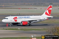 Airbus A319 Czech Airlines (Ana & Juan) Tags: airplane airplanes aircraft airport aviation aviones airbus aviacin a319 czech czechairlines taxiing madrid mad madridbarajas barajas lemd spotting spotters spotter planes canon closeup