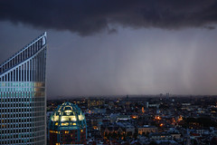 Rain in the City (edwin van buuringen) Tags: city storm rain weather skyline thenetherlands denhaag thehague sonyslt77v