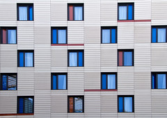Building Abstract #30 (Joseph Pearson Images) Tags: blue building window architecture symmetry rectangle tooleystreet hiltonhotel