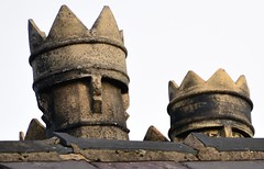 King and Queen chimney's (Joan's Pics 2012) Tags: explore crowns chimneypots roofsculpture kingandqueenchimneys