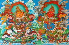 India - West Bengal - Darjeeling - Bhutia Busty Gompa - Wall Painting - 13b (asienman) Tags: india darjeeling westbengal asienmanphotography