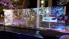 Adobe Wall After (2)_WM (Creative Ice) Tags: sculpture ice wall graffiti big decoration creative carving event planning blocks decor creativeice