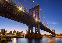 Manhattan Bridge, New York City, USA. (pedro lastra) Tags: new york bridge blue skyline brooklyn nikon downtown dusk manhattan hour d750 isa