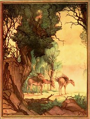 """He sought safety in a large tree."" Art by E. J. Detmold from ""The Arabian Nights."" NY: Dodd, Mead & Co., (1925). (lhboudreau) Tags: trees tree illustration watercolor book artwork tales drawing illustrations drawings books camel illustrator arabian watercolors camels fables 1925 bookart alibaba hardcover detmold colorart vintagebook arabiannights illustratedbooks illustratedbook vintagebooks vintagebookillustration thousandandonenights hardcovers thearabiannights fortythieves hardcoverbooks bookartist edwardjuliusdetmold hardcoverbook doddmeadco doddmead bookillustrator ejdetmold edwardjdetmold vintagebookillustrations colorplates classictales classicstories alibabaandthefortythieves classicillustrators classicillustrator vintageillustratedbook edwarddetmold tippedin doddmeadandcompany vintageillustratedbooks classicfables"