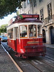 Lisbon Tram 480 (saxonfenken) Tags: 480med 480 lisbon portugal city transport tram rails red vehicle vintage thechallengefactory friendlychallengewinner pregamesweep