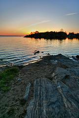 Sunrise at the Junction of the Ottawa and Madawaska Rivers (Brian 104) Tags: sunrise river rocks ottawa madawaska arnprior