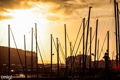 ((mig)) Tags: city sunset sky atardecer boat barco gijn ciudad cielo xixn