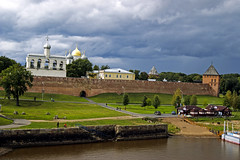 Novgorod (arthur_streltsov) Tags: city travel sky urban building tower castles church wall architecture clouds river landscape gate cathedral russia fort outdoor sony belltower belfry dome middleages kremlin citypark fortresses novgorod orthodoxy a290 goldendomes volkhovriver volkhov sonyalpha velikiynovgorod sonylens novgorodkremlin novgorodthegreat russiannorth sonykit sony1855 sonya290 mainlycloudy saitsofiacathedral gospodinvelikiynovgorod arthurstreltsov