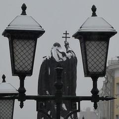 Заснеженный патриарх Гермоген. Москва (varfolomeev) Tags: russia moscow москва 2015 россия nikonp340