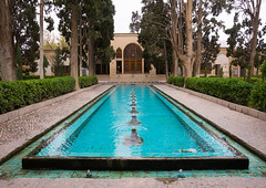 shotor galou-e-shah abbasi in fin garden, Isfahan Province, Kashan, Iran (Eric Lafforgue) Tags: travel building tree tourism water fountain pool horizontal architecture garden outdoors persian pond iran turquoise middleeast nobody nopeople landmark courtyard artificial basin unescoworldheritagesite pavilion iranian geography kashan geographic islamicarchitecture persiangulfstates fingarden watercanal cedartrees  fulllenght  16732 colourimage  iro isfahanprovince  baghefin westernasia  solomonspring bagdefin historicwalledgarden shotorgaloueshahabbasi thehsoleymaniehspring