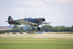 N3200 - Supermarine Spitfire Mk1a (chris.selby) Tags: museum 1 flying war force display britain anniversary aircraft air royal battle aeroplane landing formation airshow helicopter ii ww2 duxford imperial spitfire 75 mk raf iwm supermarine i n3200 geoffreystephensonguymartinguys
