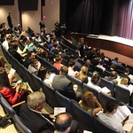 Students and alumni gathered in Beegly Theatre to hear a presentation
