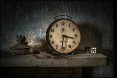 Abandoned clock2 (ducatidave60) Tags: abandoned fuji decay fujifilm dereliction fujifilmxpro1 fujinonxf23mmf14