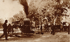 Fire Dept, Old Horse-Drawn Engine
