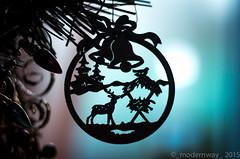 Christmas tree decorations (_modernway_) Tags: christmas wood light red tree window silhouette cutout festive wooden decoration christmastree decorate christmastime intricate christmassy
