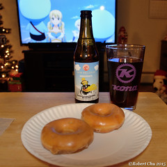 Perhaps the best desert ale? (Imagination04) Tags: new brown beer belgium ale caramel donuts brownie krispy kreme benjerrys salted