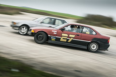 Maximum Drift Attack - BMW 735i & 325i (Freddy Pacques) Tags: auto canon automobile closed track smoke style battle vegetable nascar bmw l 5d usm circuit 325i f28 drifting drift 70200mm e36 735i