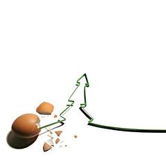 xmas + easter (brescia, italy) (bloodybee) Tags: christmas xmas stilllife food brown white tree green paper easter season square december advent break calendar shell christmastree crack fir eggs tannenbaum 365project