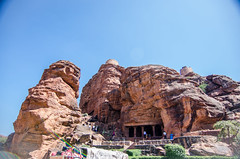 Badami Cave Temple - Cave 1 ([sujith]) Tags: temple cave karnataka badami chalukya bagalkot vatapi