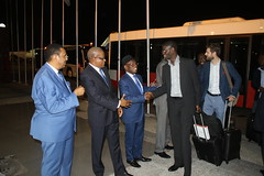 Security Coucil members arrive at the Ndjili International Airport in Kinshasa to begin visit. (MONUSCO) Tags: unsc drc rdc monusco