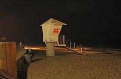 No Lifeguard on Duty (skipmoore) Tags: lagunabeach lifeguardtower night