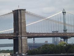 Brooklyn Bridge, Manhattan Bridge, Williamsburg Bridge, Hudson River, New York City (lensepix) Tags: brooklynbridge manhattanbridge williamsburgbridge hudsonriver newyorkcity