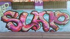 Slap... (colourourcity) Tags: streetartaustralia streetart graffiti melbournestreetart melbourne burncity colourourcity awesome nofilters bunsen burner letetrs alphabetmosnters slap